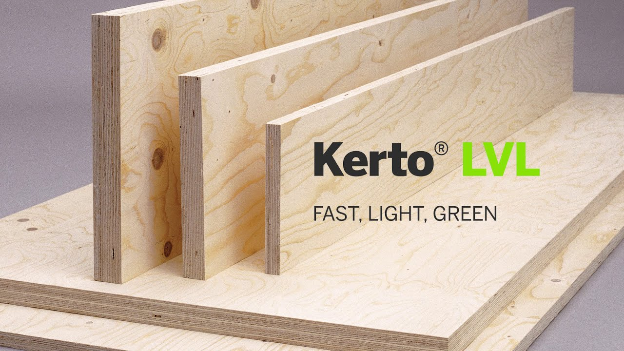 Metsä Wood KERTO® laminated veneer lumber (LVL) – production video