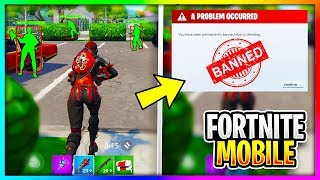 YOU can get BANNED for this in Fortnite Mobile!