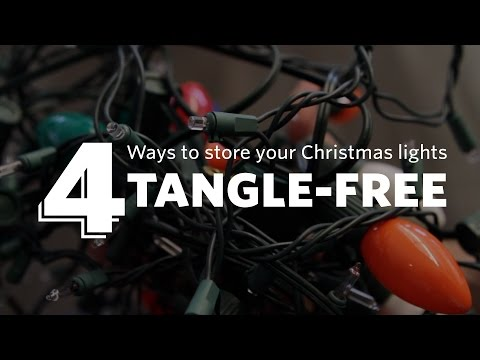 How to Store Christmas Lights Tangle-free!
