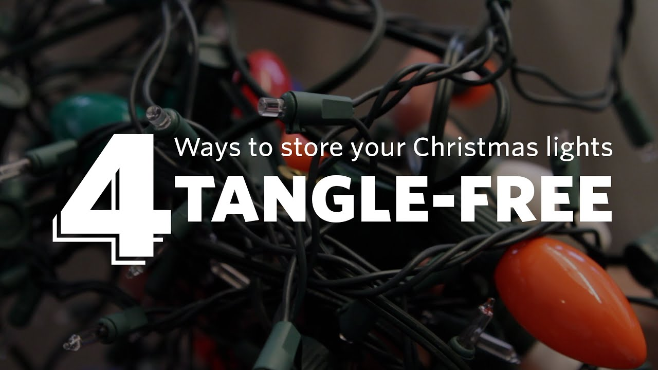 how to store christmas lights tangle free youtube