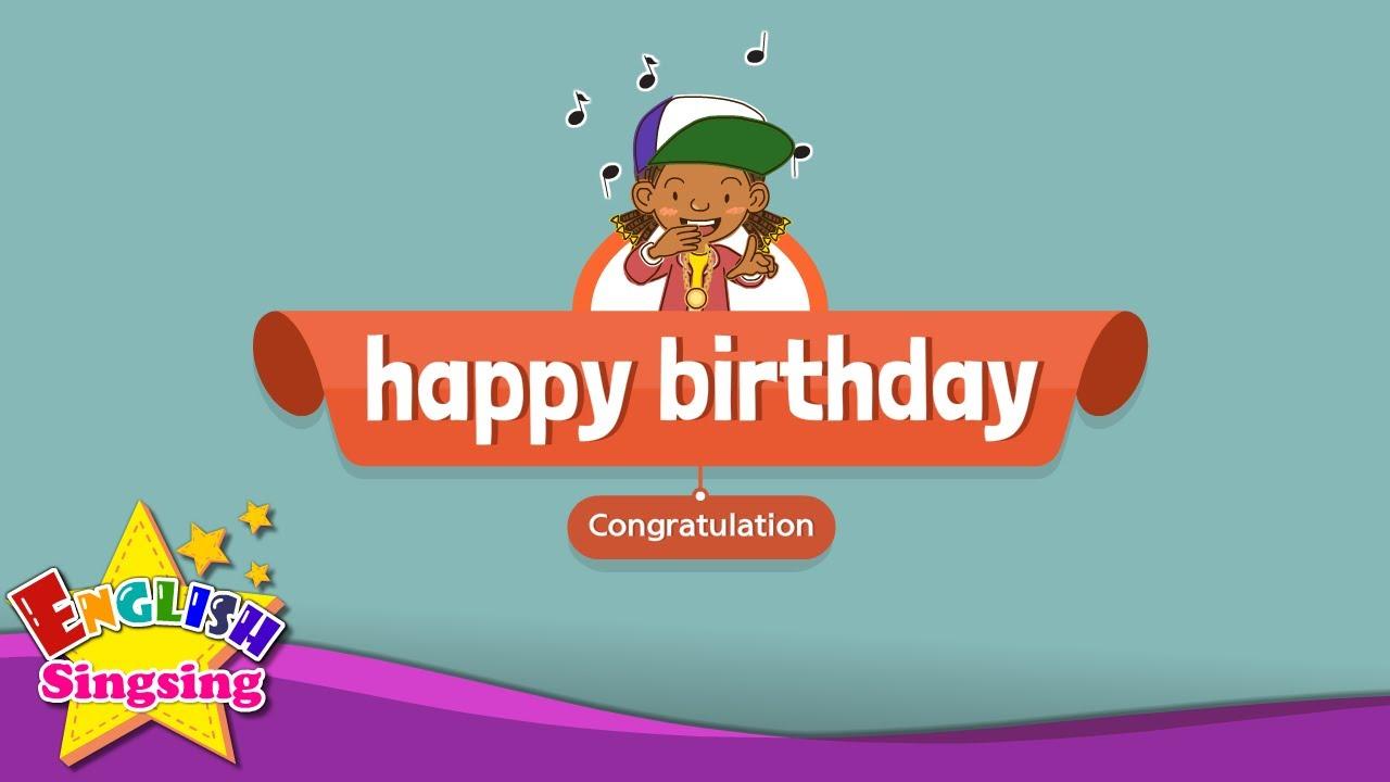 [Congratulation] Happy birthday! - Education Rap for Kids - Sing along