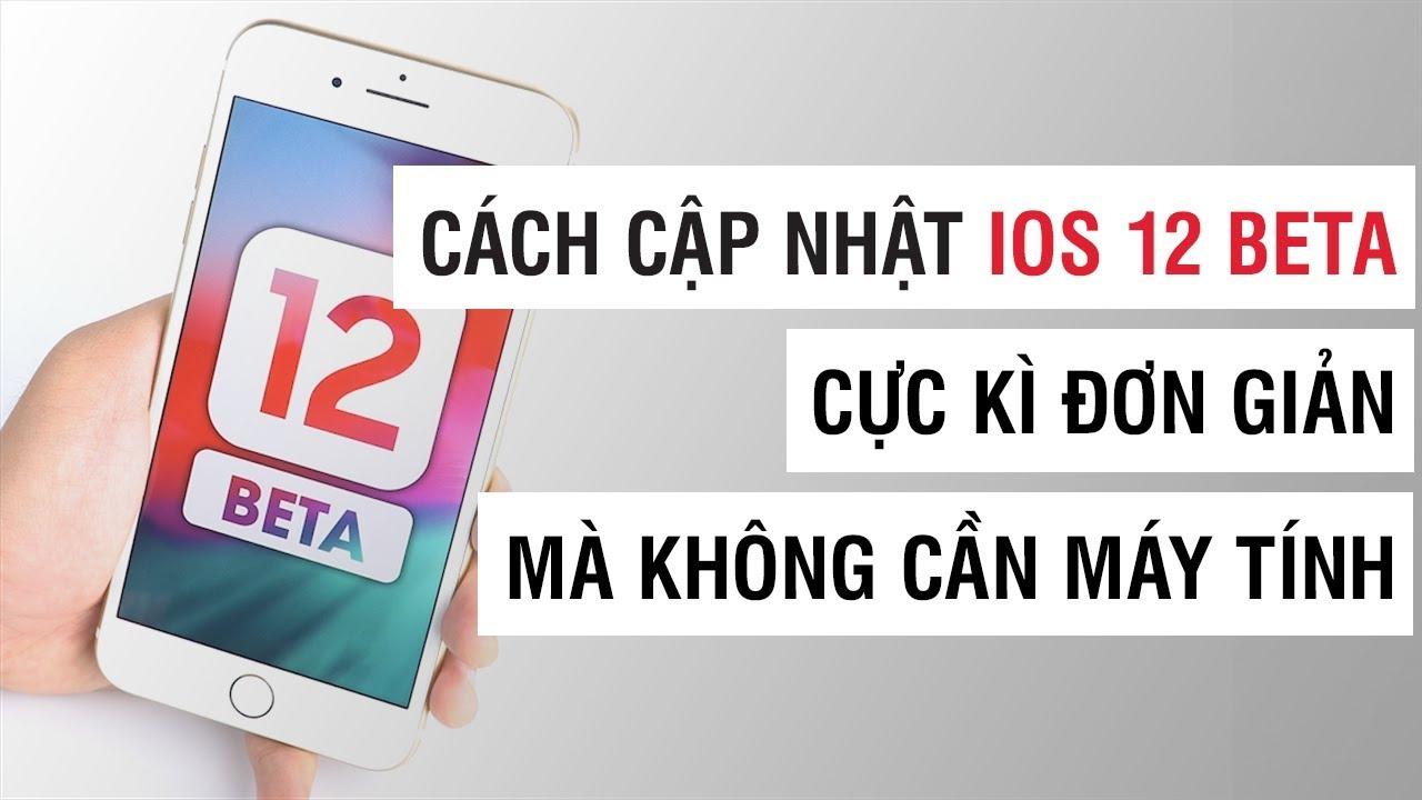 Cách cập nhật iOS 12 beta cực kì đơn giản và không cần máy tính | Điện Thoại Vui