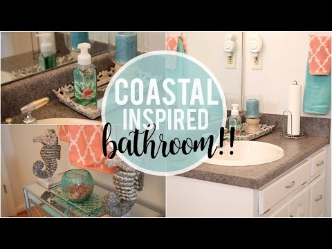 Coastal Inspired Bathroom Tour | Before & After!