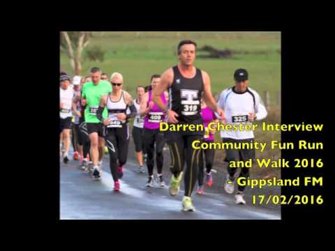 Darren Chester, Community Fun Run - Gippsland Today on GOLD1242 - 17/02/2016