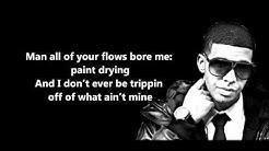 Over My Dead Body - Drake // Lyrics On Screen [HD]