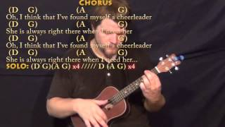 Cheerleader (OMI) Ukulele Cover Lesson in D with Chords/Lyrics