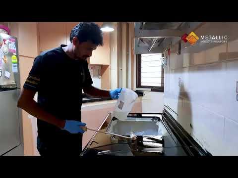 Metallic Epoxy Coated Countertop (Silver Veins on Pure Black Base)