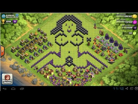Clash of Clans - MUST SEE Hilarious Pixel Art Screen Shot Compilation!