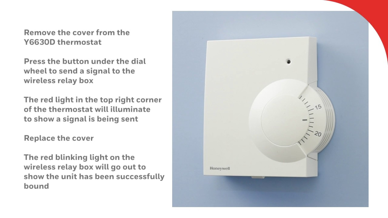 Binding The Y6630d Wireless Room Thermostat Honeywell Home Youtube Ct3200 User Guide Manualsonlinecom