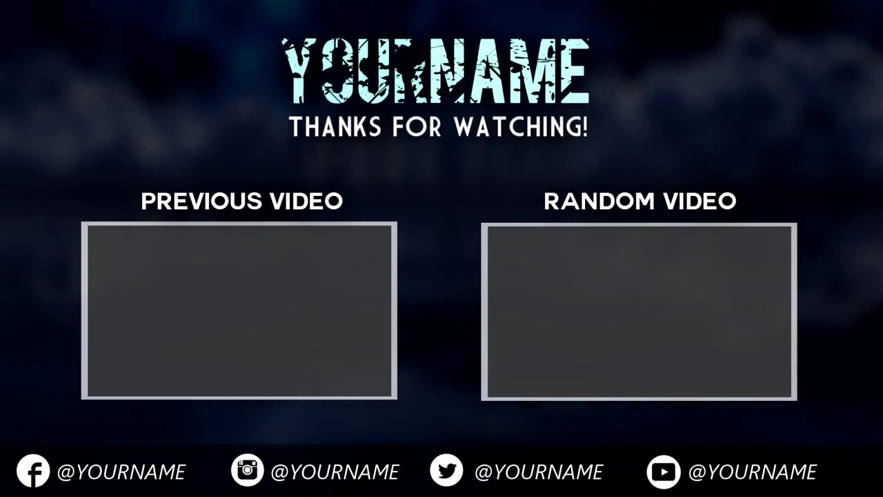 Free amazing sony vegas outro template download youtube for Free outro template