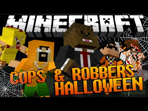 Minecraft HALLOWEEN MOD Modded Cops and Robbers w/ JeromeASF & Friends!