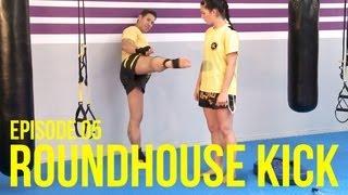 Kickbox Training #5 - Seilchenspringen / Roundhouse Kick / Dehnübung / Kickboxen / Boxen lernen