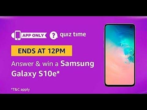 Amazon Quiz Today Answers | Win Samsung Galaxy S10e| 24 march 2019