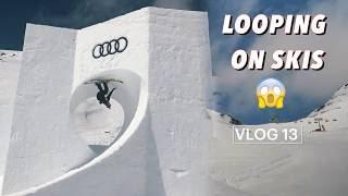 LOOPING ON SKIS! Audi Nines| VLOG 13