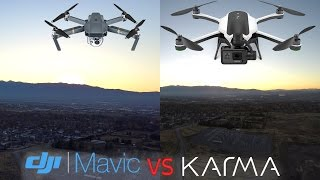 GoPro Karma vs DJI Mavic REAL flight Camera Test - Side by Side