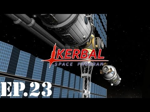 Kerbal Space Program Let's Play| Part 23 | Resupply and Crew Transfer