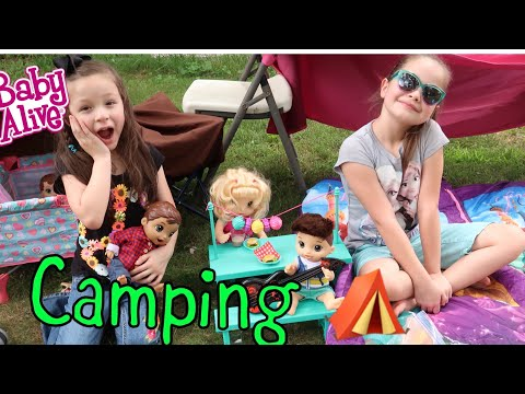 BABY ALIVES Go Camping with Their Mommy baby alive videos