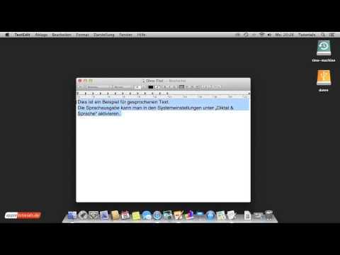 Sprachausgabe unter Mac OS X aktivieren und Text vorlesen lassen