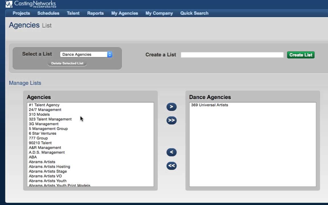 Agency Lists HD