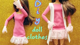 DIY for dolls - How to make Barbie doll clothes #dolls #barbie #dresses #crafts