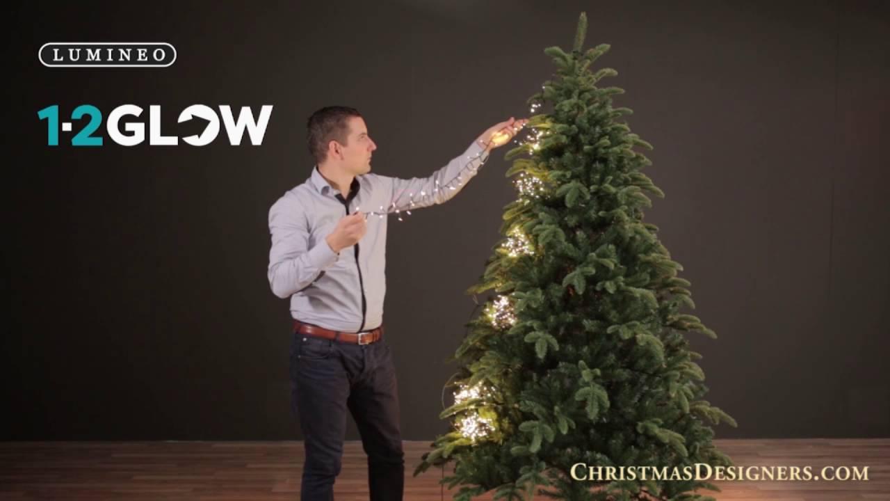 1-2 Glow LED Christmas Tree Lights - YouTube