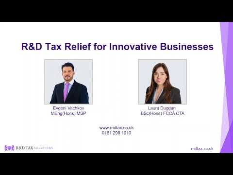 R&D Tax Credit Webinar 2018: How Innovative Businesses Claim 26% Cashback From HMRC?