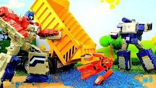 Vidéo en français. Autobots cherchent les trésors. Jouets pour enfants