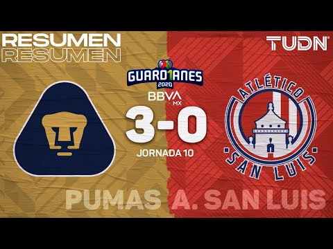 U.N.A.M. Pumas San Luis Goals And Highlights