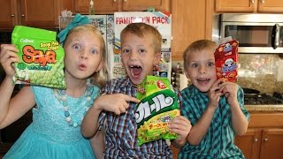 Kids Try Foods From Japan    Universal Yums