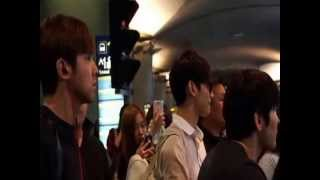 130712 HoMin Incheon Airport Returning to Korea