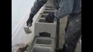 Строительство бани из шлакоблока - кладка стены(Как построить баню из шлакоблока - http://banya-project.ru/stroitelstvo-bani/strojmaterialy-dlya-bani/bani-iz-shlakoblokov-svoimi-rukami.html., 2015-01-25T10:48:08.000Z)