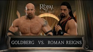 Goldberg vs Roman Reigns || WWE 2K17 || HD