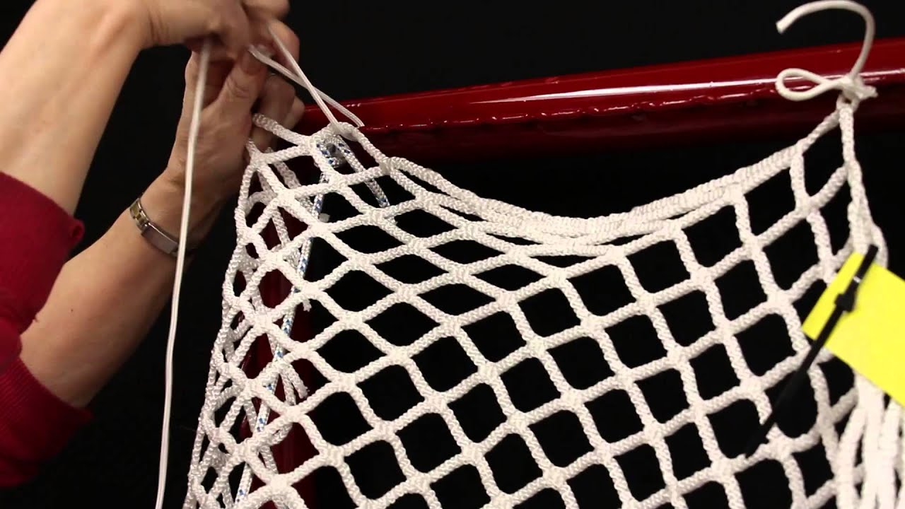 how to string a lacrosse net youtube