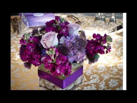 purple-rose-centerpieces
