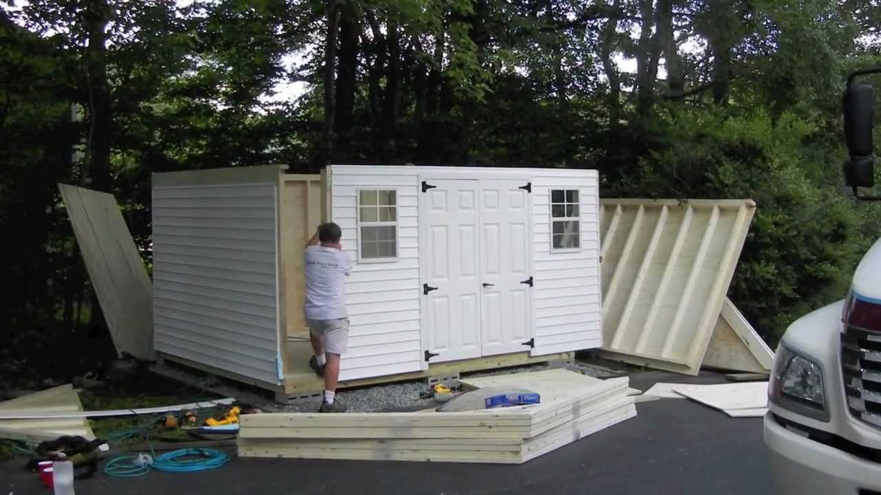 Reeds Ferry Shed Installation