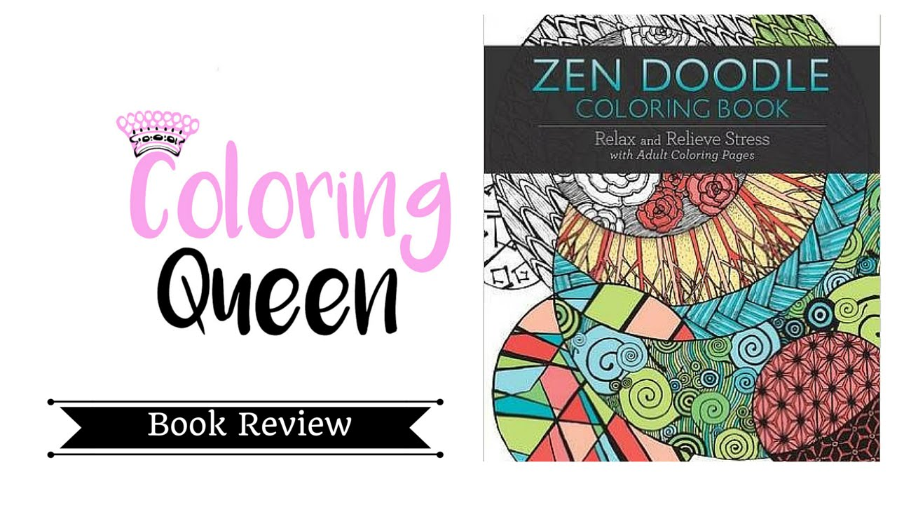 zen doodle coloring book coloring book review youtube