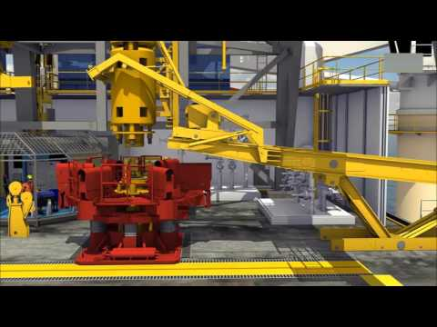 Ultra deep water drilling ship detailed animation display