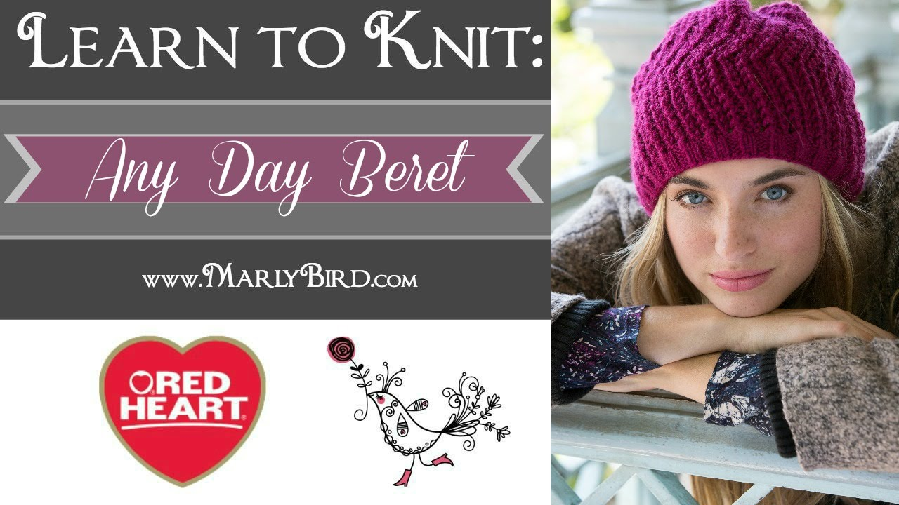 Learn to knit the All Day Beret now called the Any Day Beret - YouTube