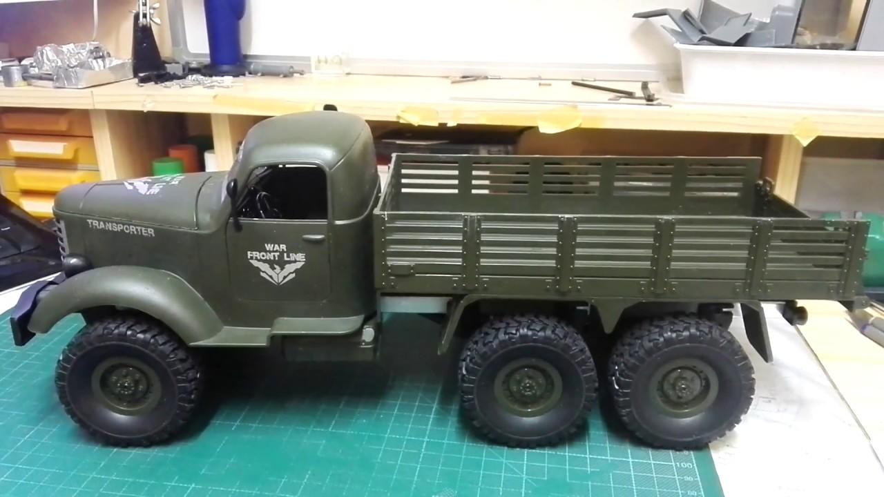 JJRC Q60 RC 1:16 2.4G Off-Road Military Truck Car - YouTube