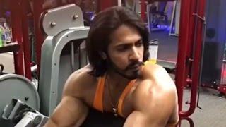 Commando 2 Villain & Mr. World 2015 ANOOP SINGH THAKUR Workout Video in Gym