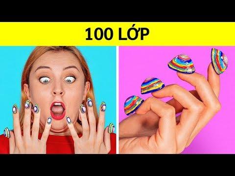 THỬ THÁCH 100 LỚP!100 Lớp Trang điểm! 100 Lớp áo Khoác Cực đỉnh Của 123GO!CHALLENGE