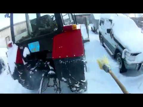Завожу трактор,чищу снег(от первого лица)