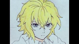 how to draw Mikaela Hyakuya (Owari no Seraph)