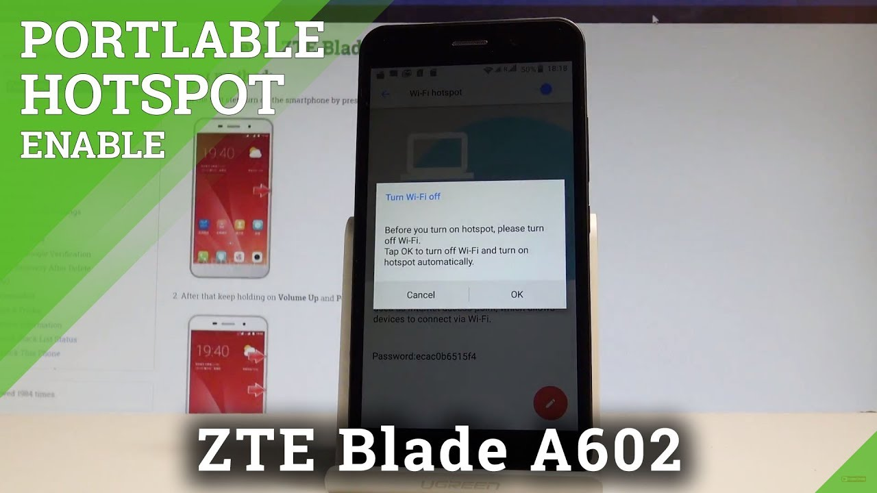 How to Enable Portable Hotspot in ZTE Blade A602 - Mobile Hotspot  |HardReset Info