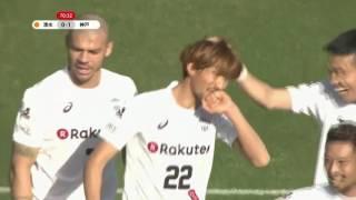 橋本 和(神戸)が右コーナーキックからのこぼれ球を押し込み、先制点を...