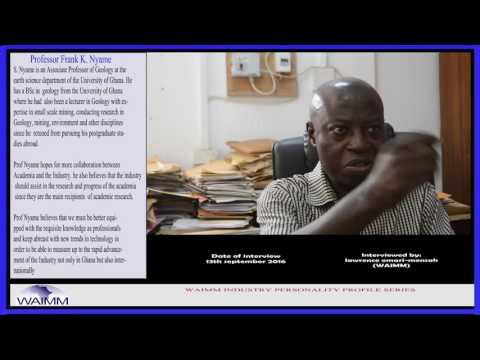 Meet Professor  Frank K. Nyame, Earth Science Department - University of Ghana