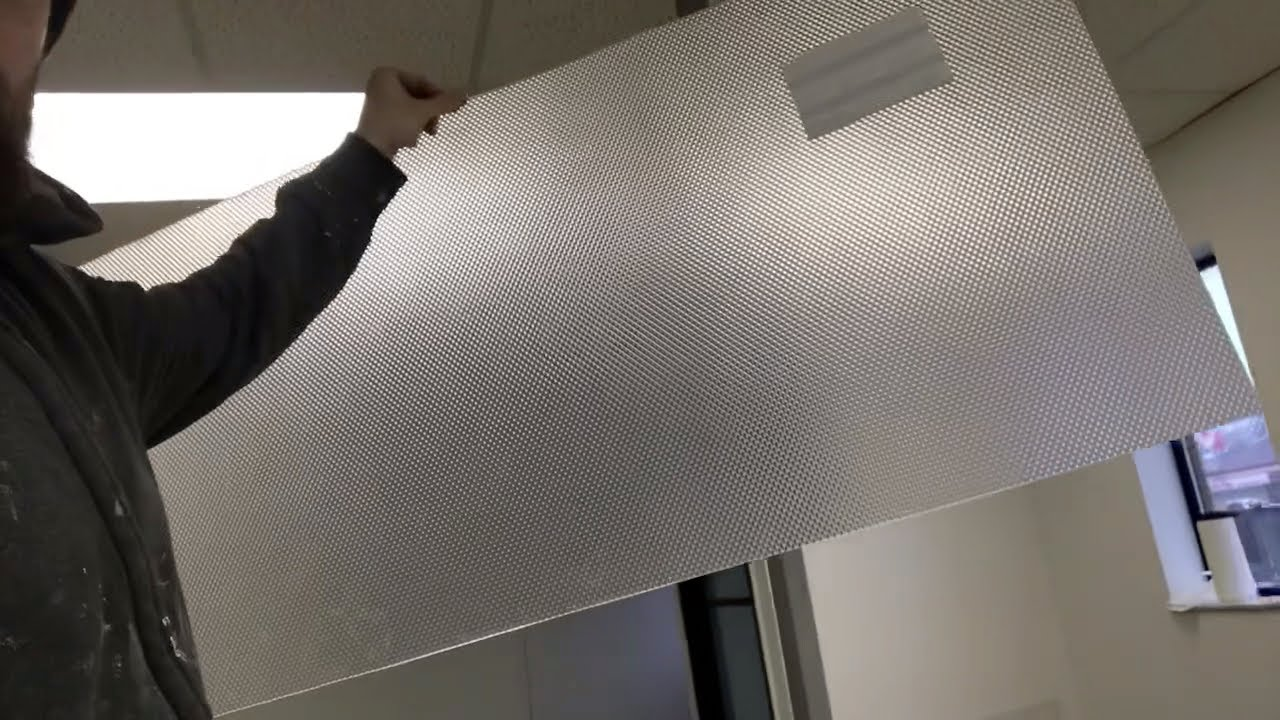 How To Cut Plastic Fluorescent Light Covers Diffusers Youtube