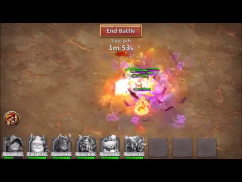 Castle Clash Boss 4 Perma Silence 151Mil Damage