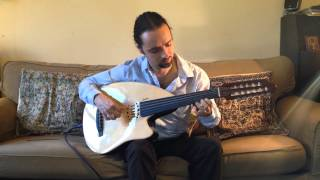 Oud flamenco improv with fingernails by Pedro da Silva in A minor on Godin