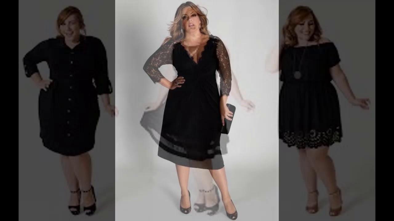 Dicas de Vestido Preto Básico Plus Size Para Festa